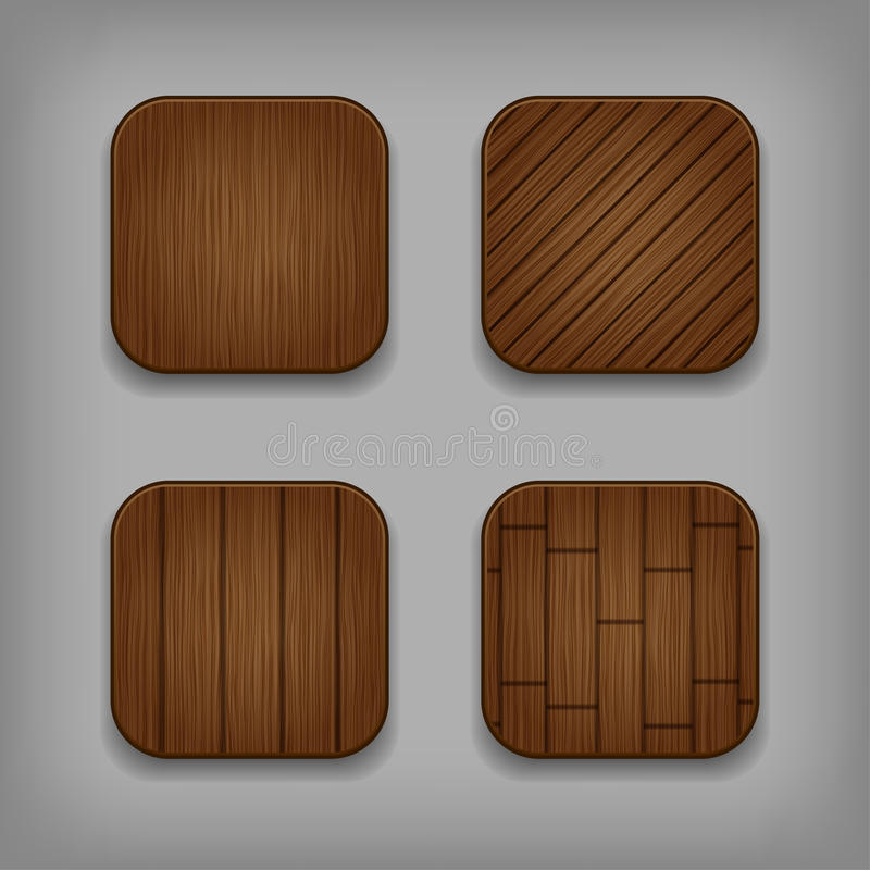 Download Vector wooden buttons set stock vector. Image of shelves - 34440291