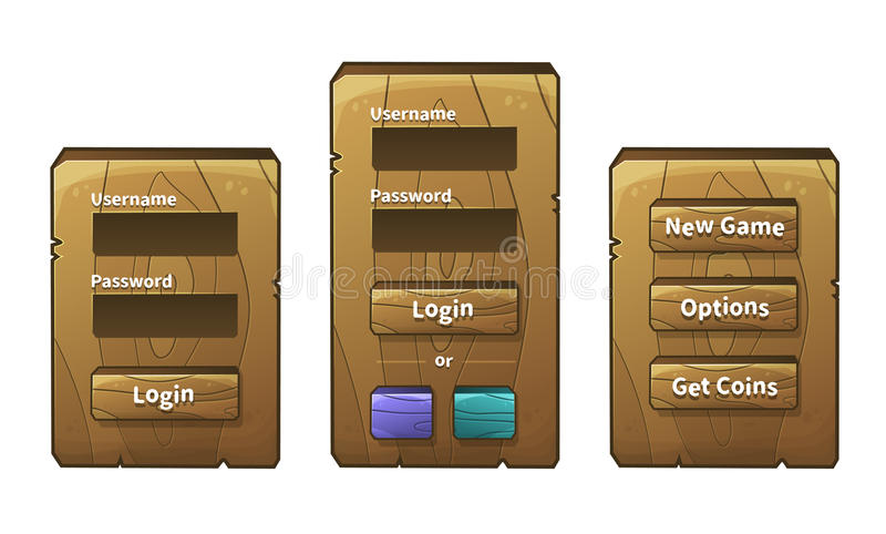 Vector wooden menu royalty free illustration