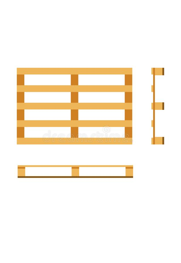 Vector wooden pallet stock image