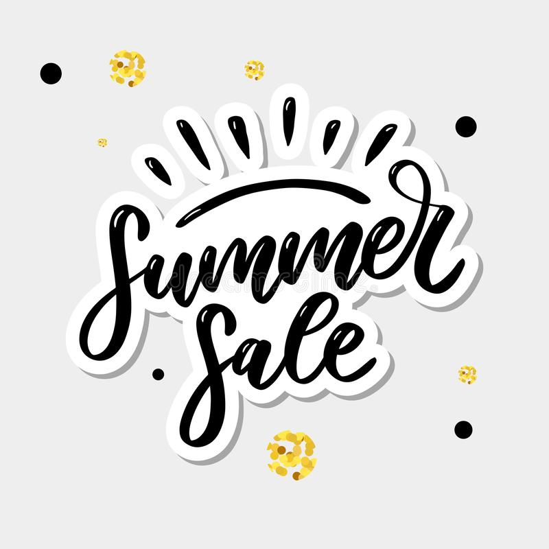 Vector word sale .Letters made of flowers and leaves Summer sale Holiday Flyer Banner Poster Summer sales. Vector word sale .Letters made of flowers and leaves royalty free stock image