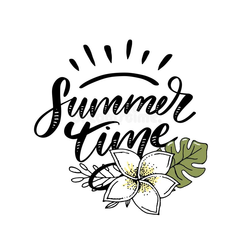 Vector word sale .Letters made of flowers and leaves Summer Time Holiday Flyer Banner Poster Summer sales. Vector word sale .Letters made of flowers and leaves royalty free stock images