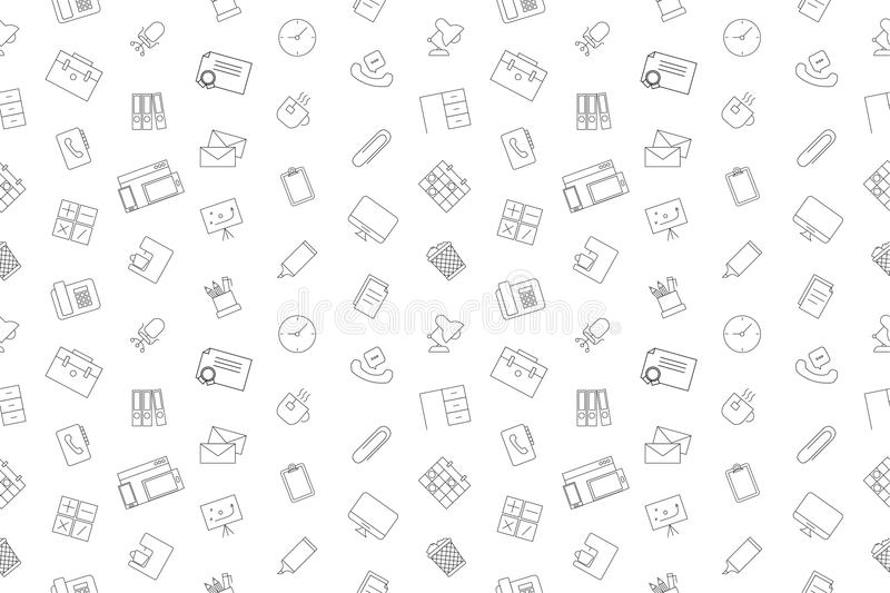 Vector Workplace pattern. Workplace seamless background. Vector illustration stock illustration