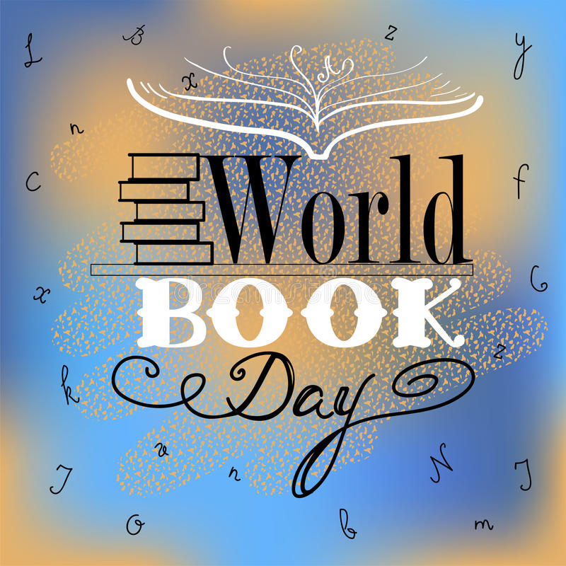 Vector World Book Day poster royalty free illustration