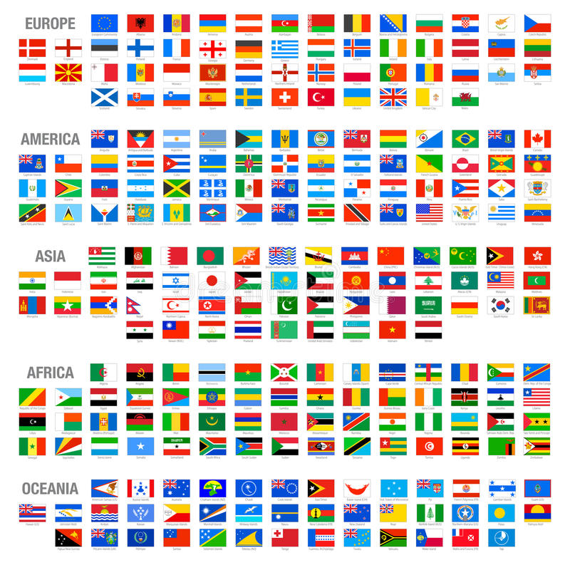 Download Vector World Country Flags Set Stock Vector - Illustration of europe, badge: 44190748