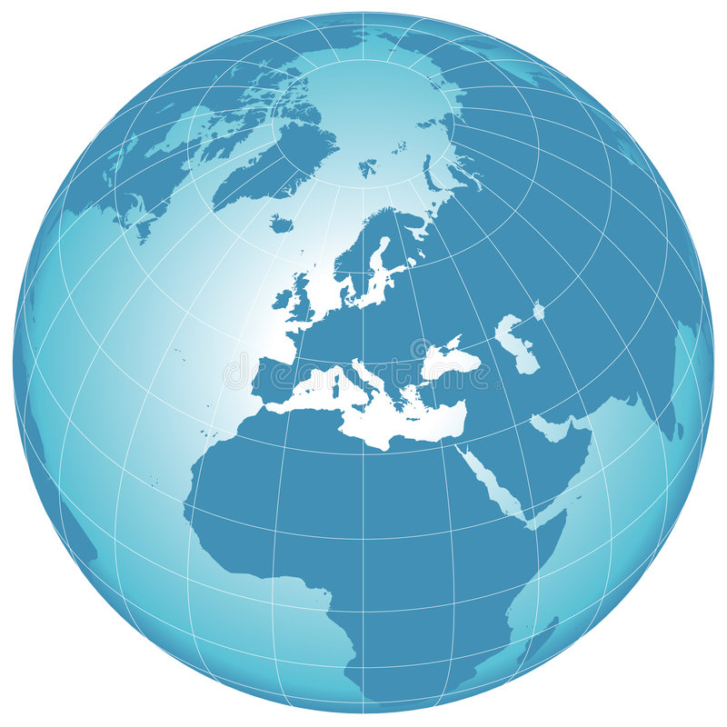 Vector world globe royalty free stock image