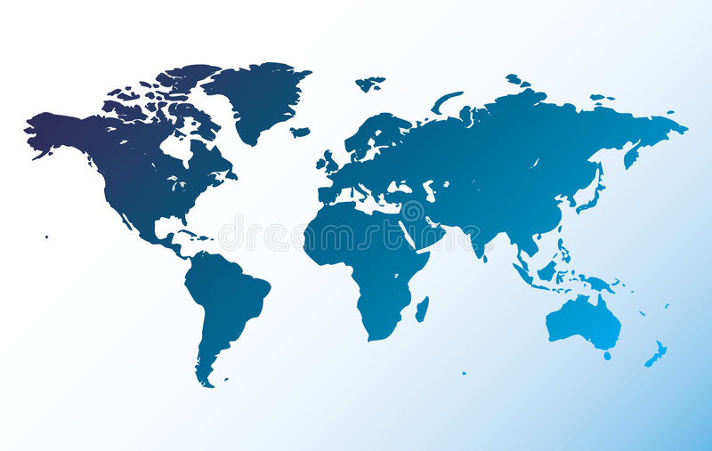 Vector world map royalty free illustration