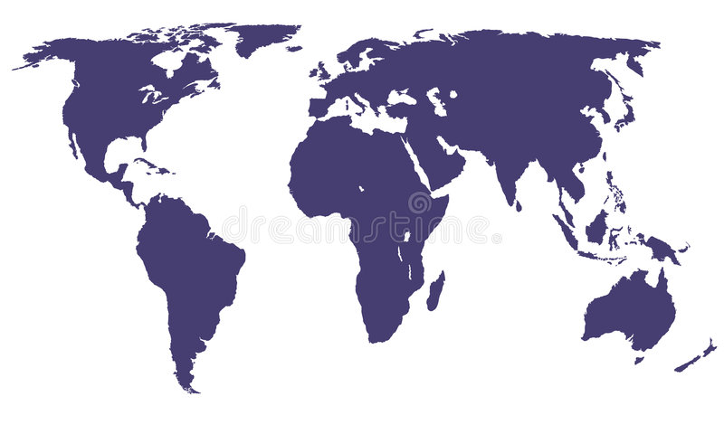 Vector World Map royalty free stock image