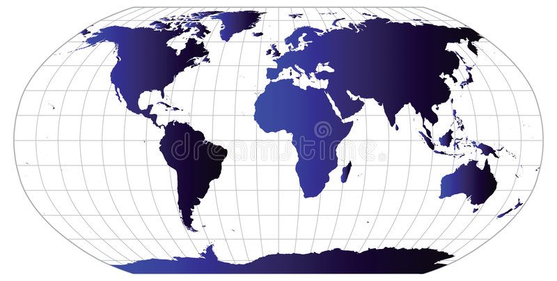 Vector World Map stock images