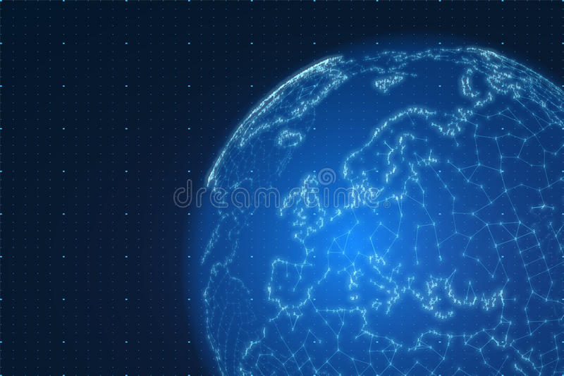 Vector world map construted of numbers and lines abstract globe download vector world map construted of numbers and lines abstract globe connections illustration futurisric gumiabroncs Choice Image