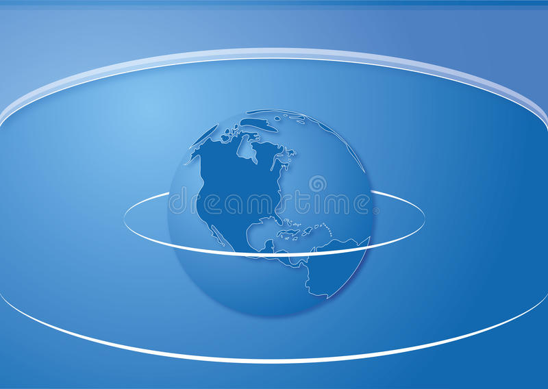 Vector world map cover template royalty free stock photos