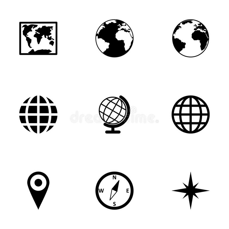 Vector world map icon set stock vector illustration of collection download vector world map icon set stock vector illustration of collection 52798345 gumiabroncs Gallery