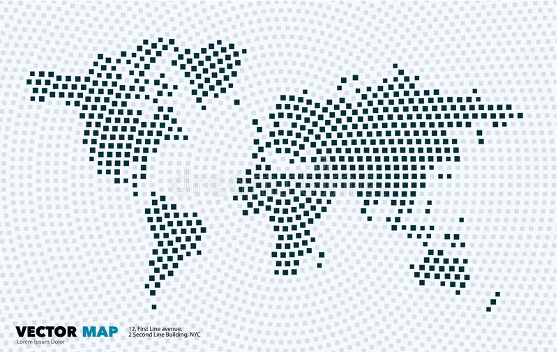 Vector world map with squares rectangles for business templates download vector world map with squares rectangles for business templates stock vector illustration of gumiabroncs Images