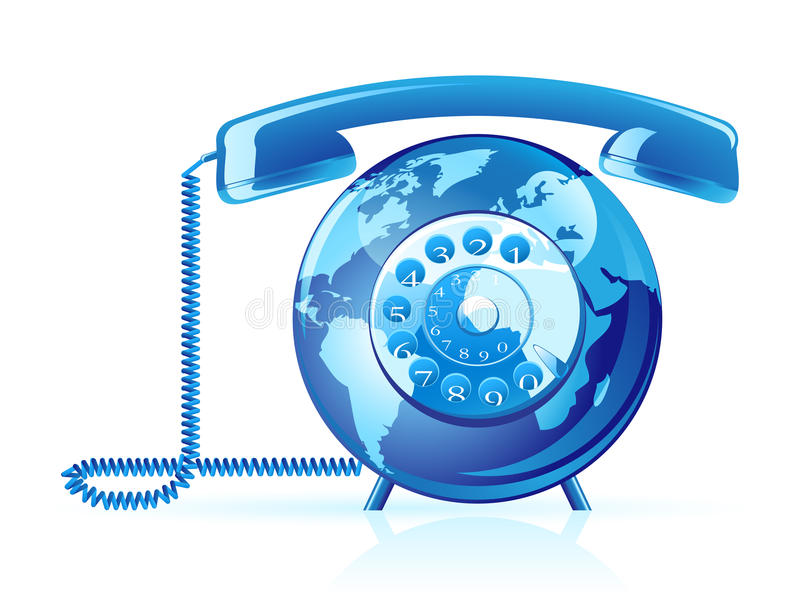 Vector World Telephone Royalty Free Stock Images