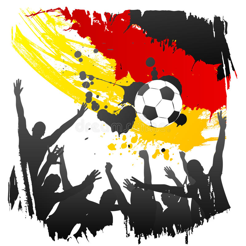 Vector worldcup germany royalty free stock photography