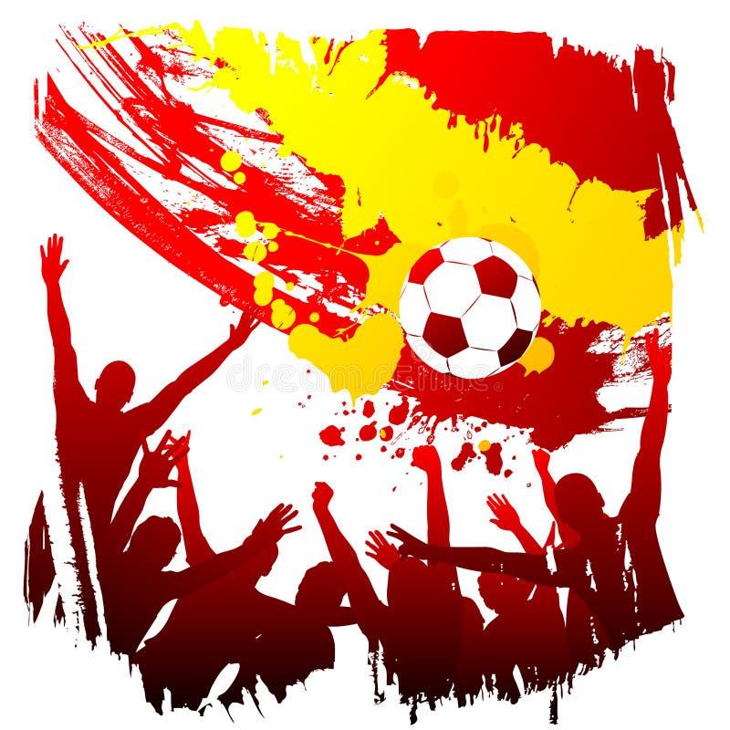 Vector worldcup Spanje royalty-vrije illustratie