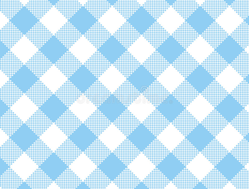Vector Woven Blue Gingham royalty free illustration