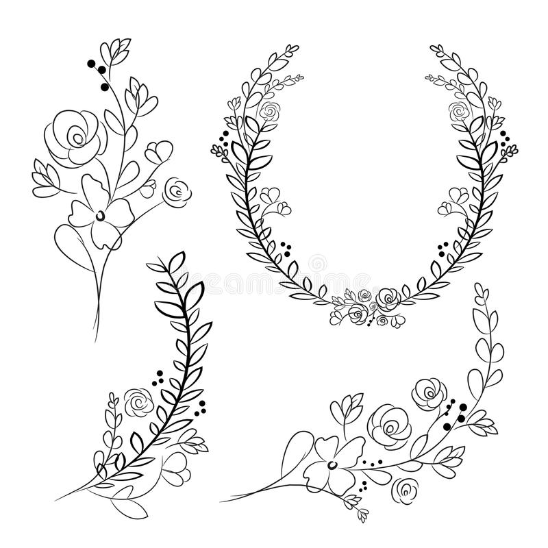 Vector Wreaths And Laurel Wreaths. Round Flower Vector ...