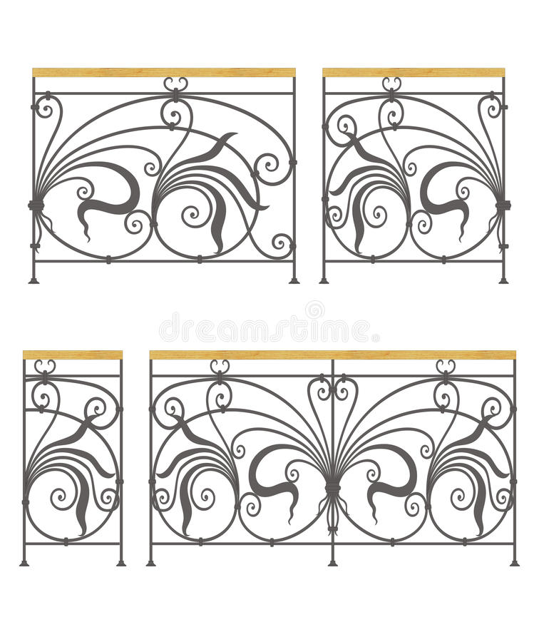 Free Vector Wrought Iron Modular Railings And Fences Stock Photo - 29041700