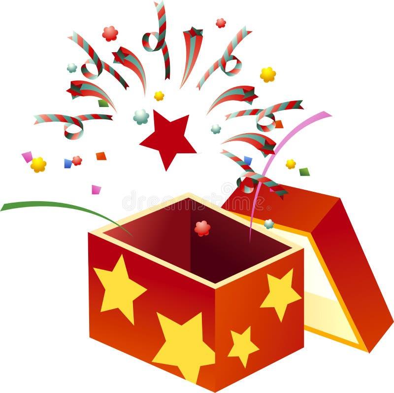 Vector xmas red box royalty free stock image