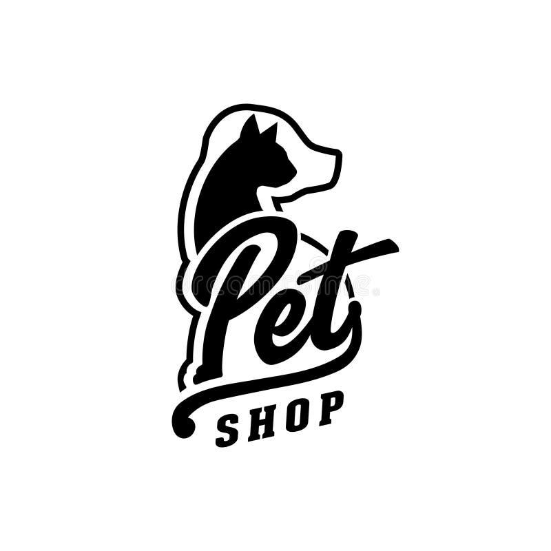 Vector y ejemplo de la tienda de animales stock de ilustración