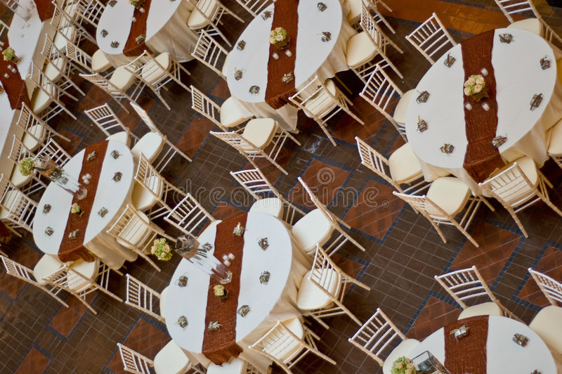 Vector y sillas de la boda fotos de archivo