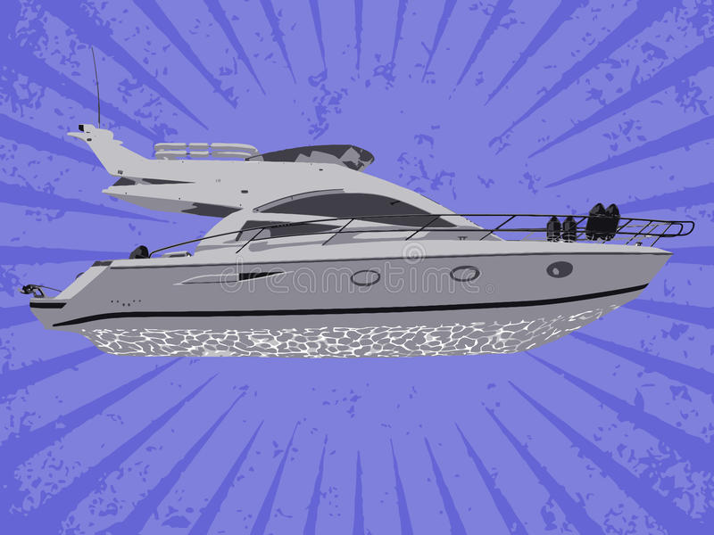 Vector Yacht Stock Image