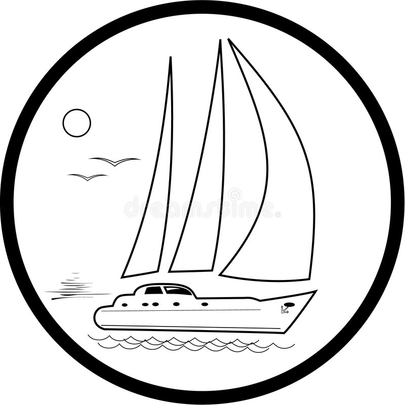 Download Vector yacht icon stock vector. Image of relaxation, nautical - 8056940