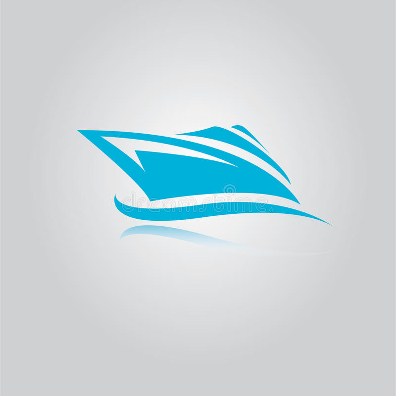 Vector yacht icon royalty free stock photography