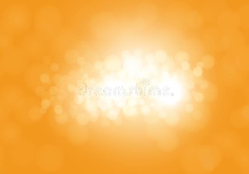 Vector yellow abstract background with flashes royalty free illustration