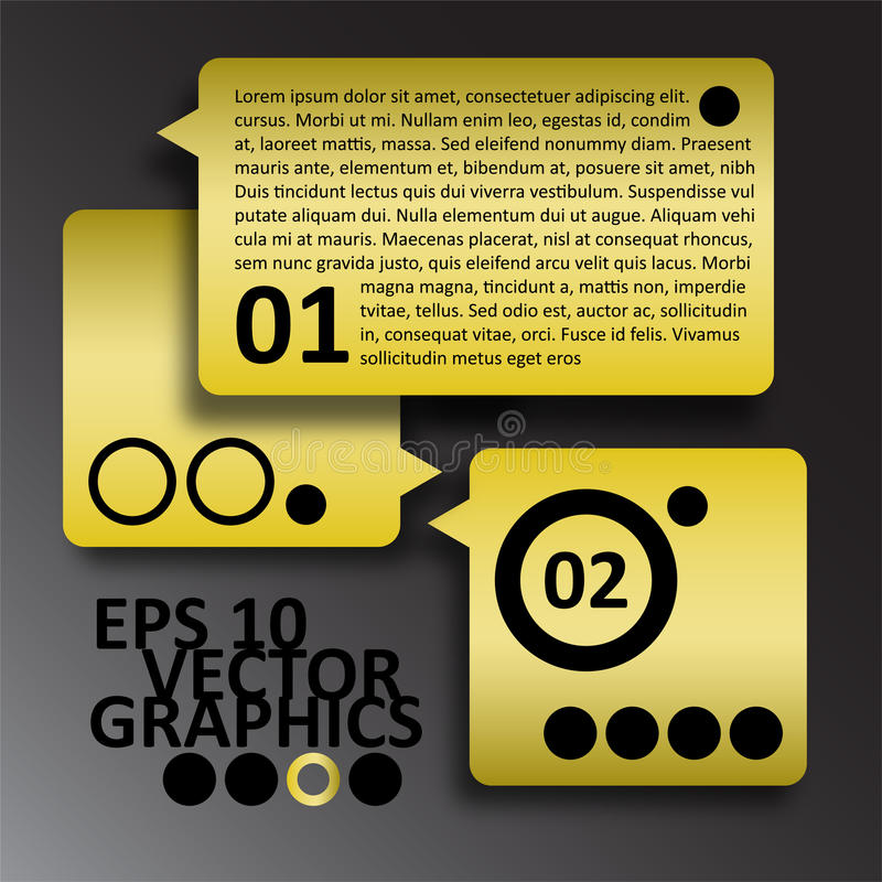 Download Vector Yellow And Black Infographics Background Co Stock Vector - Image: 32205111