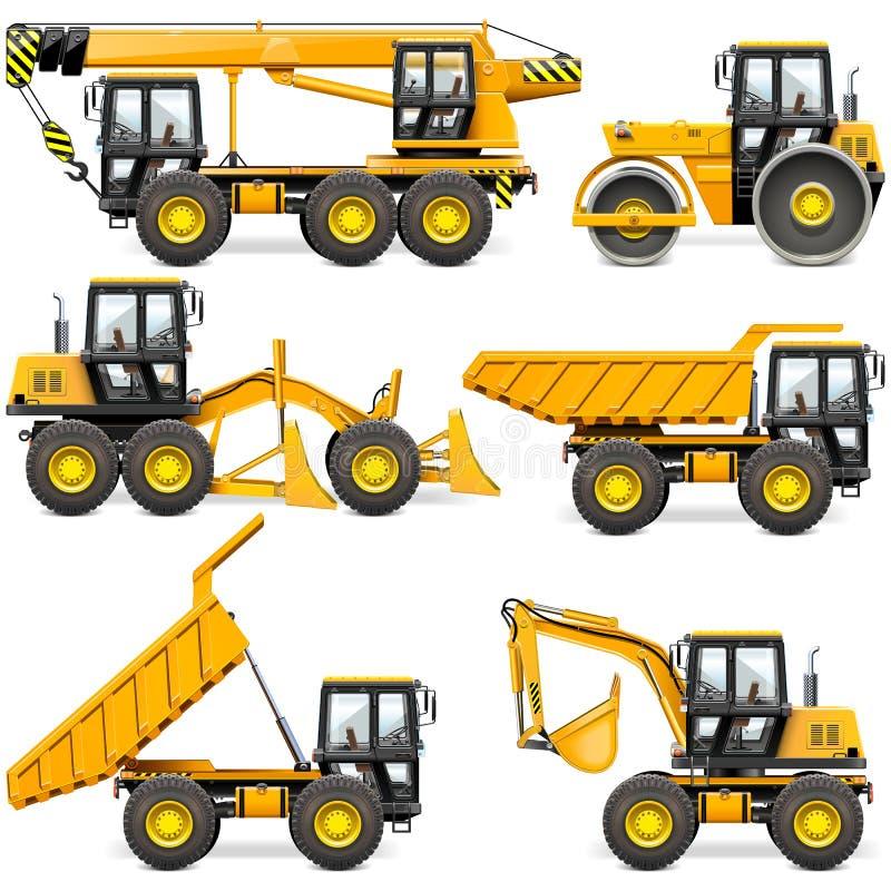 Free Vector Yellow Construction Machinery Set 2 Royalty Free Stock Photos - 125092398