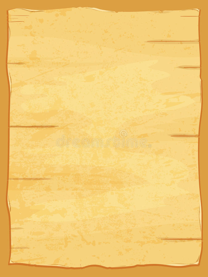 Vector yellow crumpled papyrus paper. Old sheet vector illustration