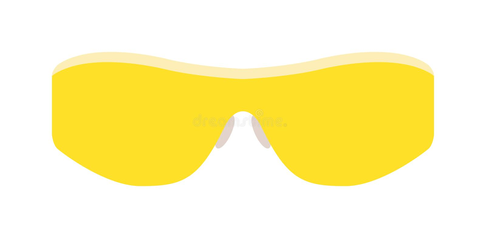 Vector yellow glasses isolated on white background. vector illustration