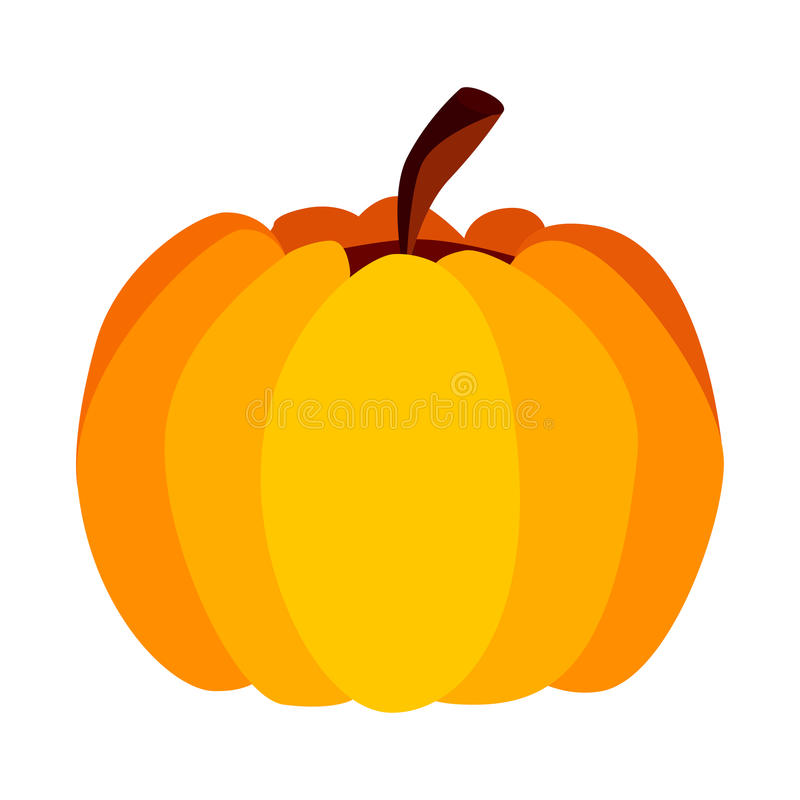 Vector Yellow Orange Festive Halloween Pumpkin royalty free illustration