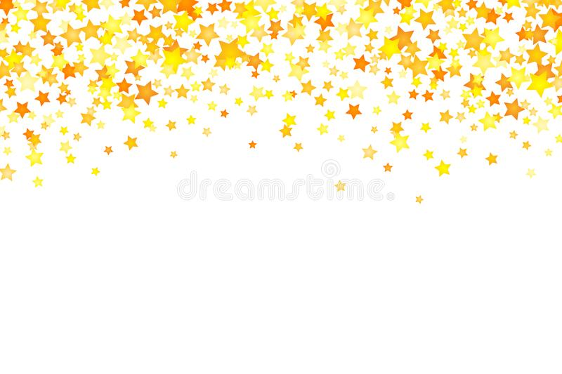 Vector yellow stars background element in flat style vector illustration