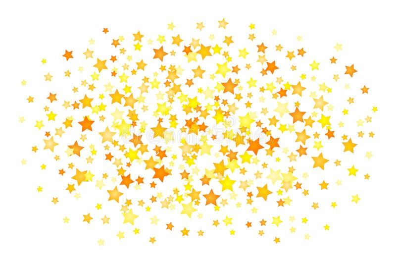Vector yellow stars background element in flat style.  vector illustration