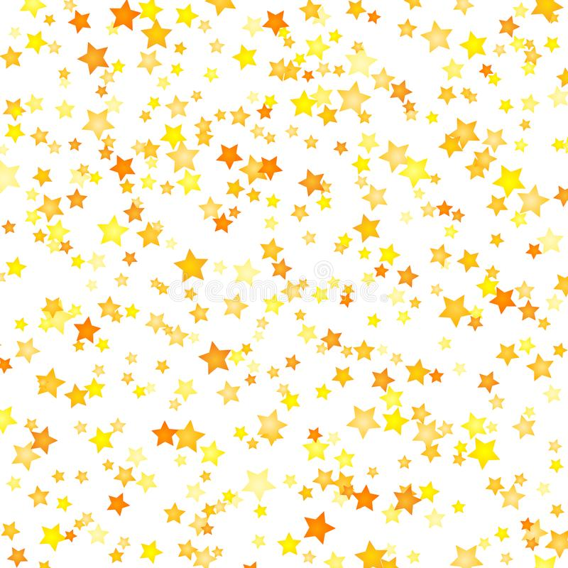 Vector yellow stars background element in flat style royalty free illustration