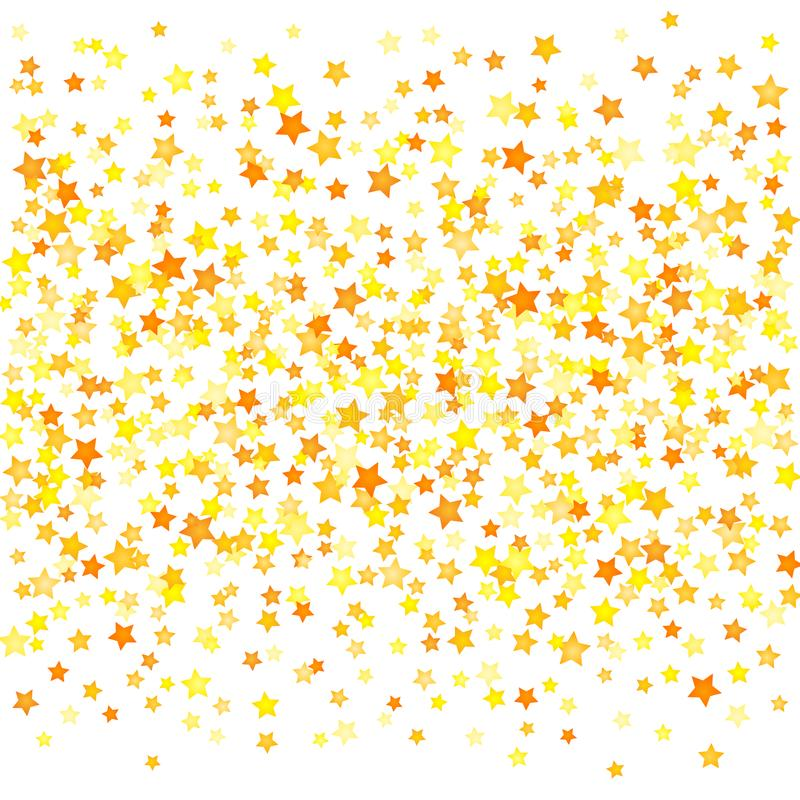 Vector yellow stars background element in flat style stock illustration