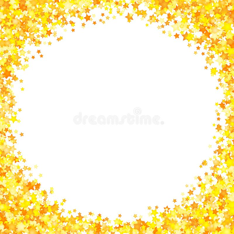 Vector yellow stars background element in flat style.  stock illustration