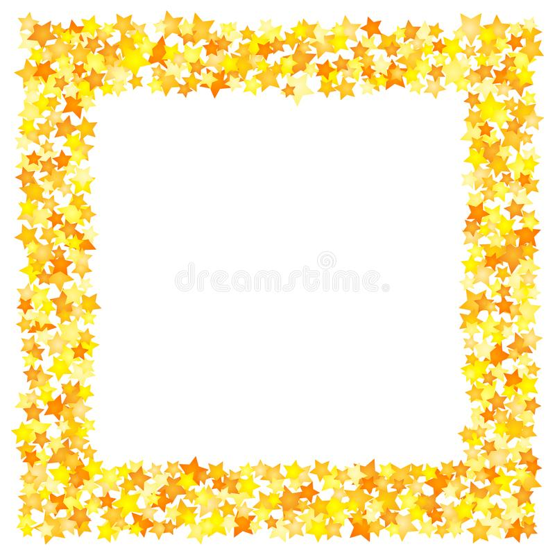 Vector yellow stars background element in flat style.  royalty free illustration