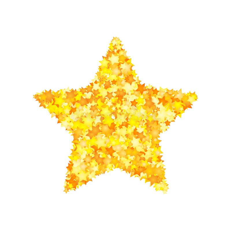 Vector yellow stars font, star shape royalty free illustration