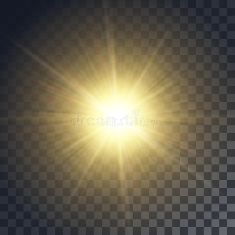 Vector yellow sun royalty free stock image