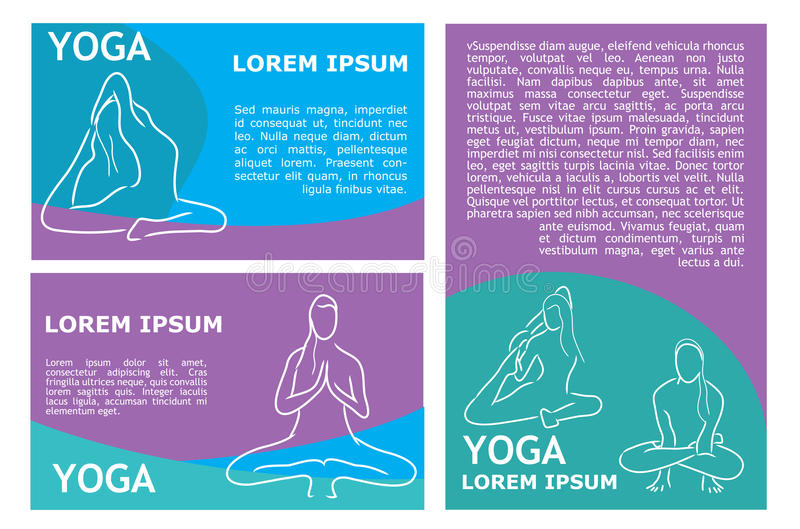 Vector Yoga Flyer Template Stock Vector Illustration Of Beauty