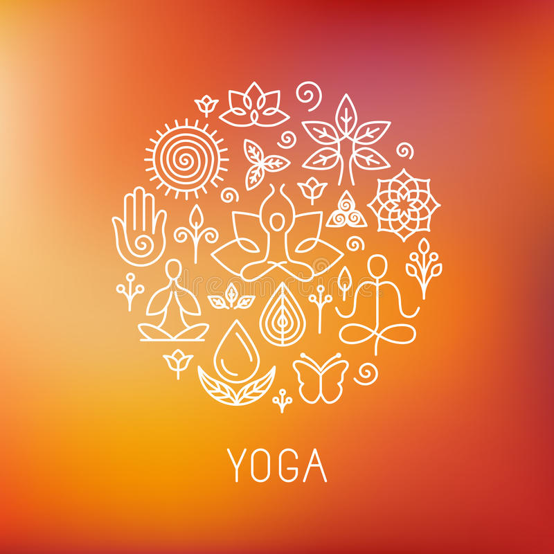 Free Vector Yoga Logo Royalty Free Stock Images - 49068139