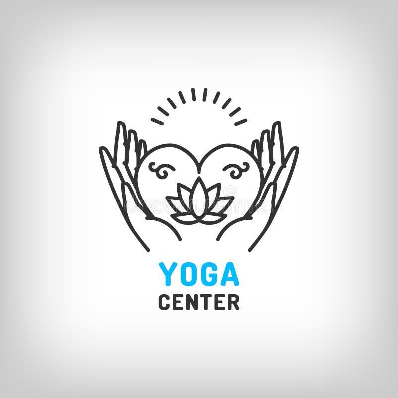 Free Vector Yoga Logo, Meditation Icon, Lotus Flower. Beauty, Health Symbols Royalty Free Stock Image - 82914856