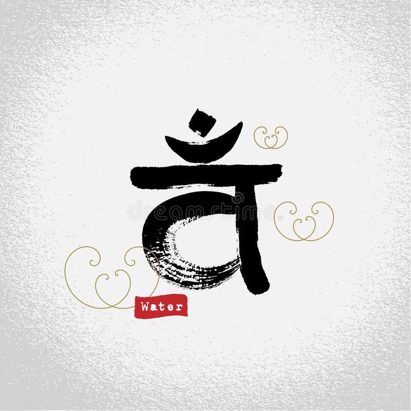 Vector: yoga sacral chakra chakras symbols with brushwork style, VAM. Vector: yoga sacral chakra chakras symbols with brushwork style, yoga decoration design stock illustration