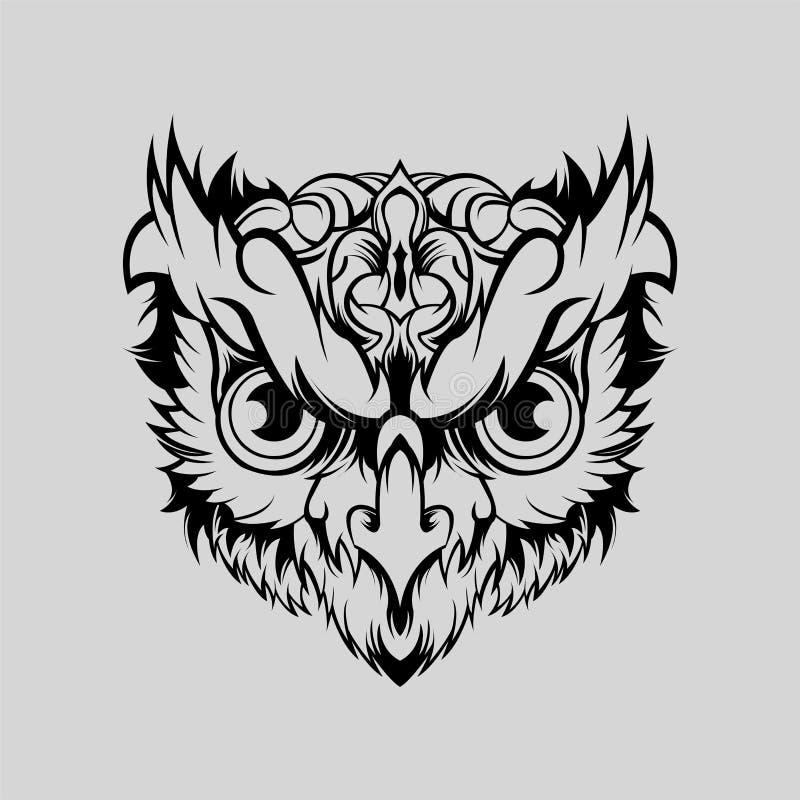 Owl Geometric Head Vector art stock photos