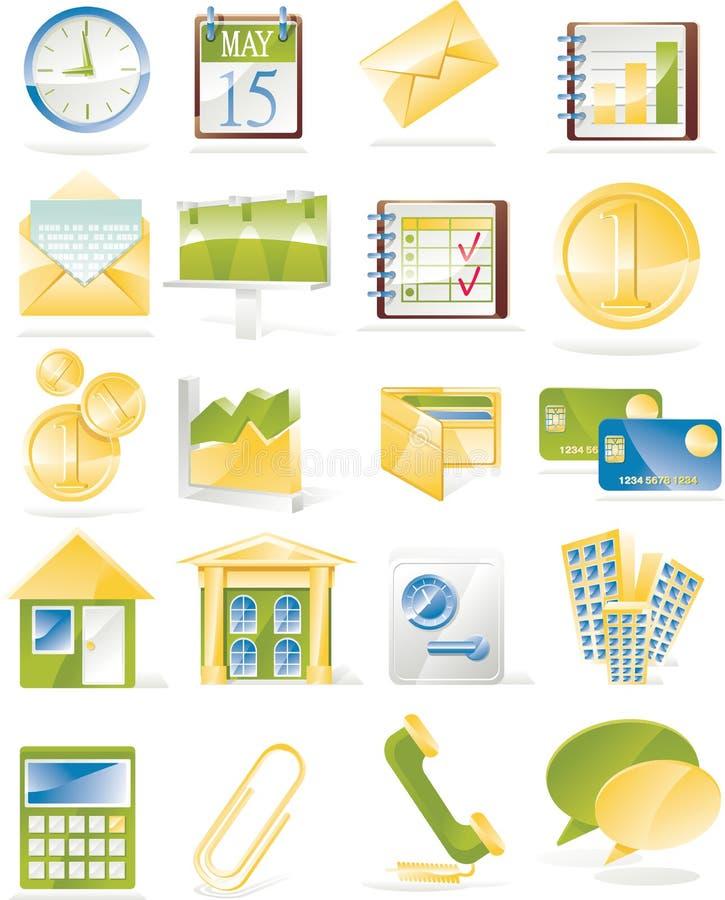 Vector zaken verwante pictogramreeks