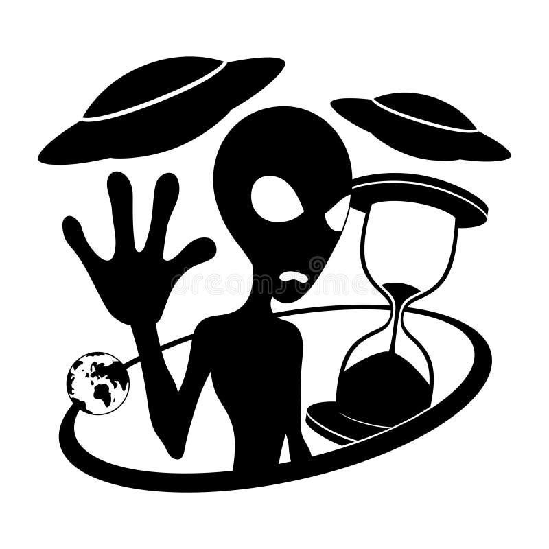 Vector Zeichen extraterrestrial lizenzfreie abbildung