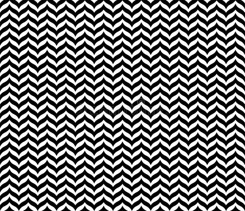 Black Geometric Seamless Zigzag pattern in white background vector illustration
